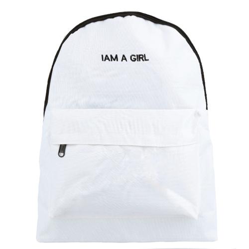 Nuevo las mujeres carta impresión grande capacidad cremallera bolsillo estudiante de la escuela al aire libre ocasionales hombro bolso morral