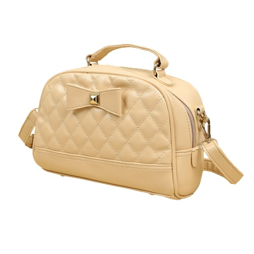 Cute PU Leather Bowknot Candy Color Small Crossbody Bag for Women
