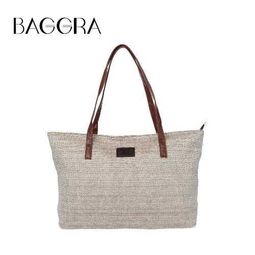 Bolsa New Fashion Women Handbag cor sólida PU emenda de Grande Capacidade de compras Casual Shoulder Tote