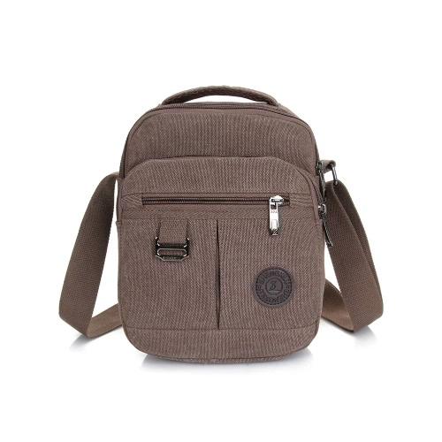 Viajes bolso ocasional pequeño de hombro al aire libre de los hombres de la nueva manera de la lona del bolso de Crossbody del bolsillo con cremallera