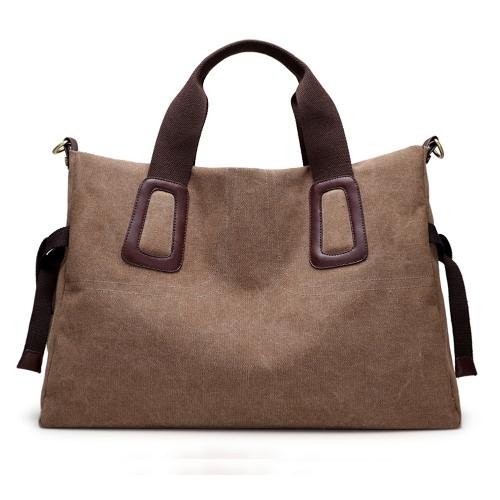 Bolso grande ocasional del bolso del mensajero del color sólido de la bolsa de asas del bolso de WomenCanvas Crossbody