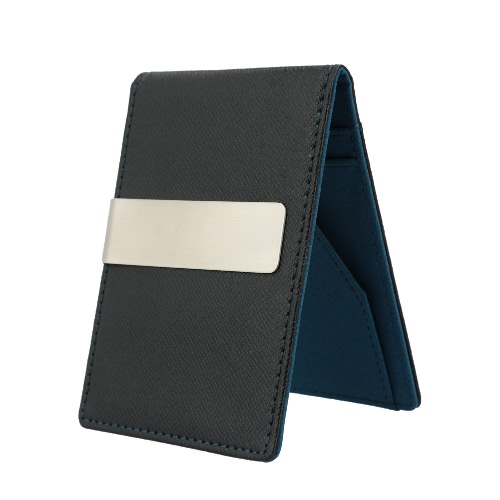 Neue Mode Männer Geld Clip Kunstleder schlanke Portemonnaie ID Kreditkarte Halter Cash Clip