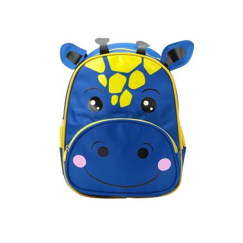 Crianças Backpack Animal dos desenhos animados da vitela impressão Nylon Zipper alça ajustável Meninos Meninas ocasional saco de viagem escola