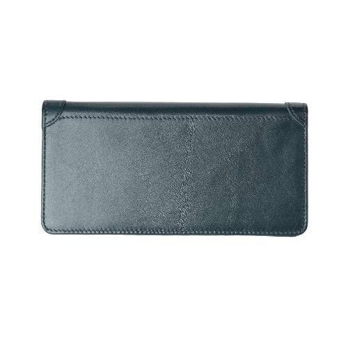 Moda Masculina Dinheiro clip carteira de couro longa Clutch Business Credit Cash Card Wallet Titular