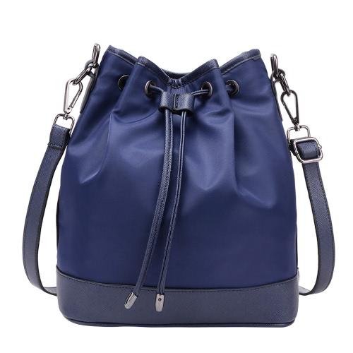 Moda Damska torebka na ramię Nylon ściągacze Grab Uchwyt Messenger Crossbody Torba materiałowa Niebieski / Fioletowy / Czarny