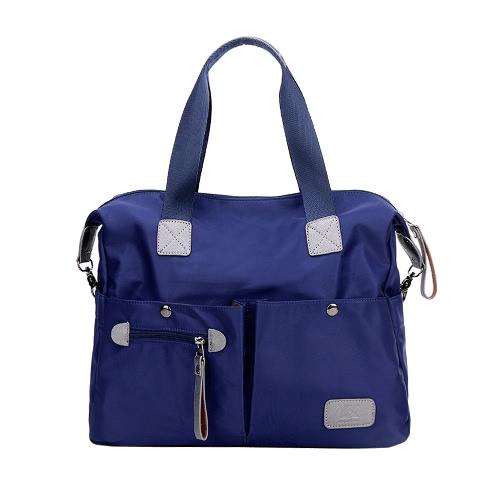 Las nuevas mujeres del bolso de nylon Oxford gran capacidad multi bolsillos ocasional del hombro de Crossbody de la bolsa de asas púrpura / Negro / Azul