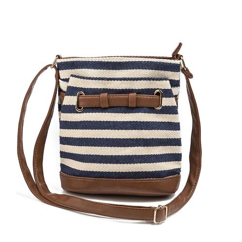 Bolso de hombro de las bolsas de hombro de las mujeres de la lona bolso de las muchachas del estilo de muy buen gusto Bolso de mensajero de Crossbody