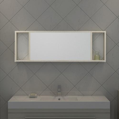 Miroir étagère coloris Pin