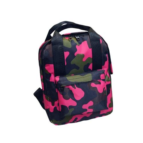 Fresco de la manera de las mujeres Mochila camuflaje colorido de la impresión niños de escolar bolsa de viaje
