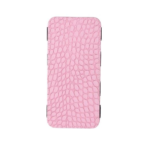 Billetera larga de las mujeres cocodrilo patrón Bi-fold elástico PU bolsa bolso de embrague efectivo tarjeta titular Borgoña/azul/rosa