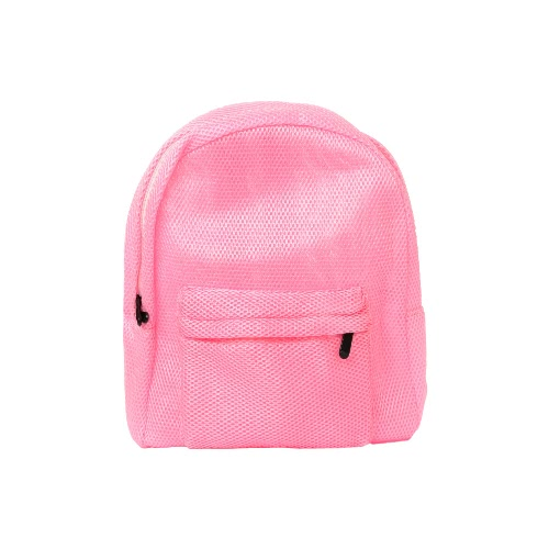New Fashion Unisex Men Women Mesh Backpack Solid See-Through Zipper Small Bag Casual Schoolbag Travel Bag