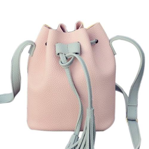 Bolso de canasta de borla Bolsa de cuero bolso de la marca Messenger Mujer Crossbody bolsa de hombro bolsa de embrague