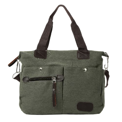 Retro Large Capacity Canvas Handbag Casual Travel Totes for Women and Men