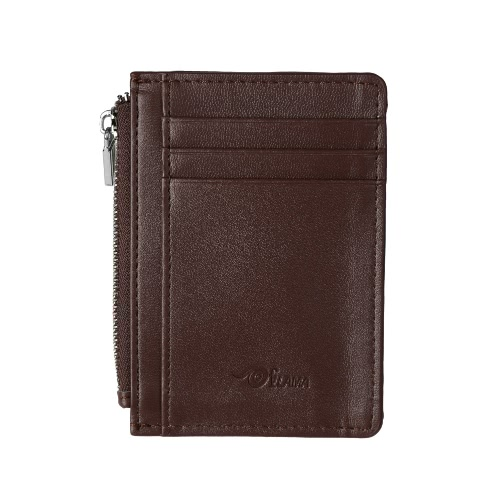 Men Wallet Money Coin Bag Zipper ID Card Holder PU Leather Business Male Wallet Black/Brown