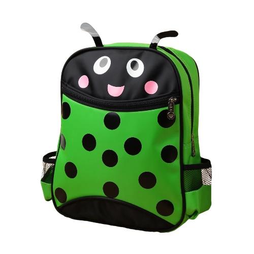 New Kids Unisex Mochila dos desenhos animados animal besouro impressão Zipper ajustável Correias Crianças Meninos Meninas Schoolbag