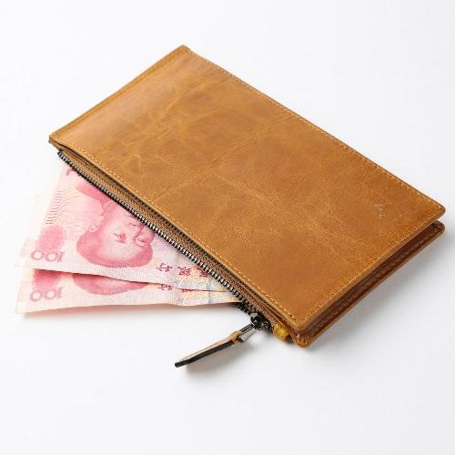 Новые Мужчины Длинный кошелек Клип Деньги кожи высокого качества Cash кредитной карты держатель Бизнес Тонкий кошелек фото