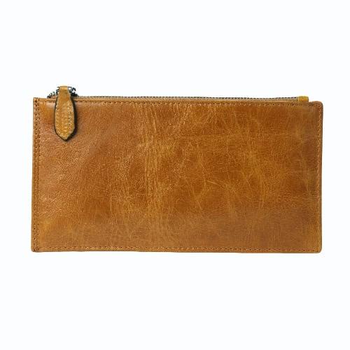 Novos Homens Wallet longo Holder Clip Dinheiro couro de alta qualidade Cartão de crédito em dinheiro de Negócios Bolsa Fina