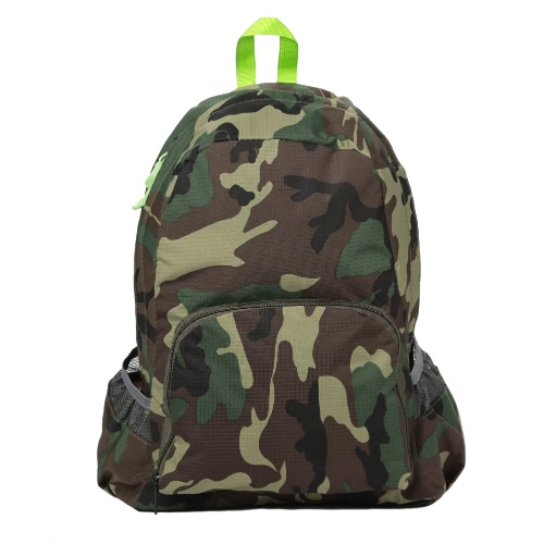New Men Backpack camuflagem impressão Escola Student Travel Bag Adolescente Casual Shoulder Bag Verde