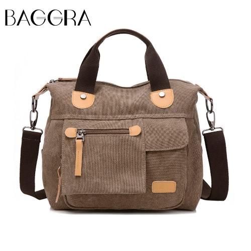 Neue Art und Weise Frauen-Handtasche Segeltuch feste PU-Ordnung Reißverschluss Befestigung Lässige Umhängetasche Schultertasche