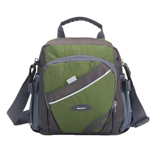 Nueva unisex de nylon impermeable del bolso de Crossbody del color del contraste de la cremallera multi-bolsillos ocasional del deporte al aire libre del bolso de pequeñas bolsas de hombro