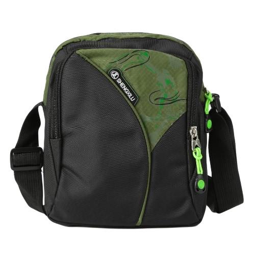 Nueva unisex de nylon impermeable del bolso de Crossbody del color del contraste de la cremallera Multi-bolsillos deporte al aire libre pequeñas bolsas de hombro ocasional