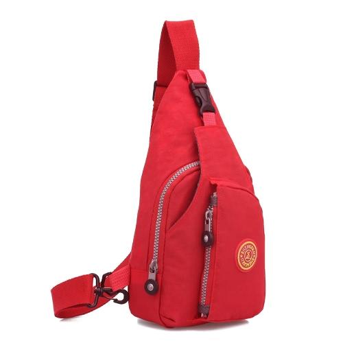 La bolsa de las mujeres del hombro de nylon impermeable del bolso de la cremallera color sólido durable ocasional Crossbody del bolso del recorrido del hombro