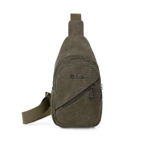 Los hombres bolsa de mano en el pecho correa ajustable con cremallera bolsa de hombro al aire libre de la honda Crossbody duradero