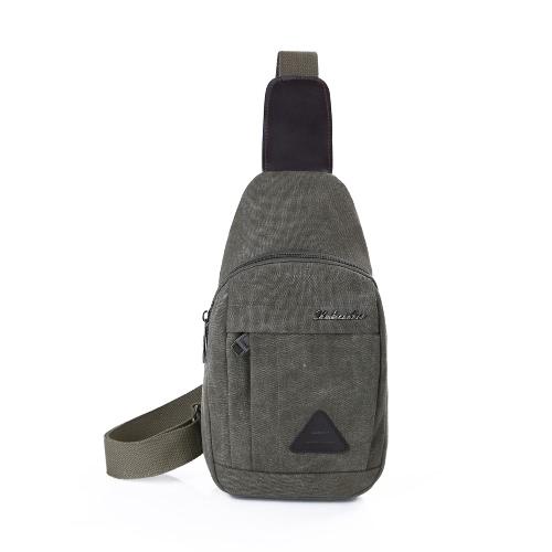 Neue Männer Vintage-Tasche Reißverschluss verstellbaren Riemen im Freien Spielraum beiläufiger Schulter-Umhängetasche Tasche