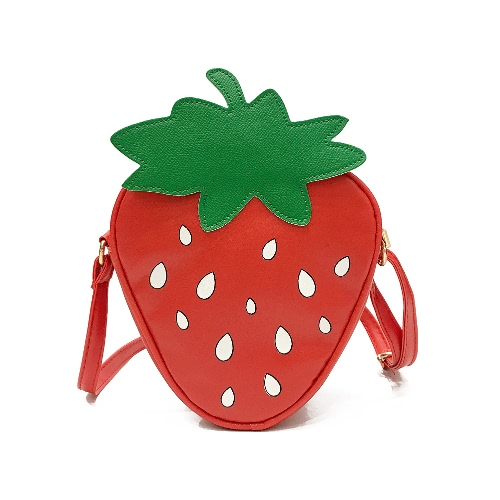 Moda Mulheres PU Leather Cute Crossbody Bag Lovely Pineapple Strawberry Fruit Bags Small Messenger Bag