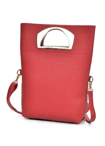 Frauen Drei Stück Handtasche Set PU Leder Schultertasche Clutch Bag Card Bag Reißverschluss Casual Umhängetasche