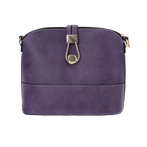 Nueva moda mujeres PU Crossbody bolsas sólido cerrojo cremallera Casual Messenger Shell bolso pequeño bolso del hombro