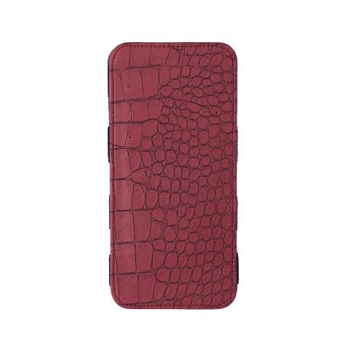 Kobiety Długi Portfel Krokodyl Wzór Bi-fold Paski Elastyczne Portfel PU Portfel Purpurowy Portmonetka Burgundy / Niebieski / Różowy