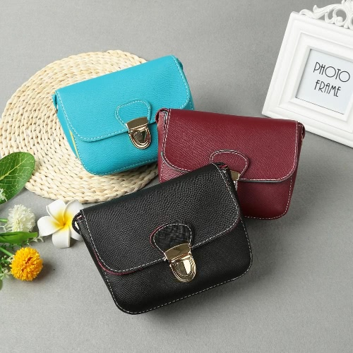 New Women Messenger Bags PU Leather Crossbody Bag Solid Flap Hasp Casual Vintage Small Shoulder Bags