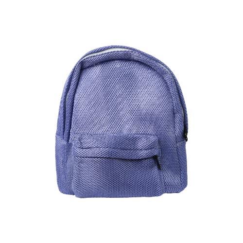 Nueva Moda Unisex Hombres Mujeres malla Mochila Sólido ver-a través de la cremallera pequeño bolso ocasional del recorrido del bolso de escolar