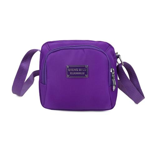 Bolso sólido nueva manera de las mujeres de Crossbody del bolso de nylon impermeable bolsillos de cremallera de fijación