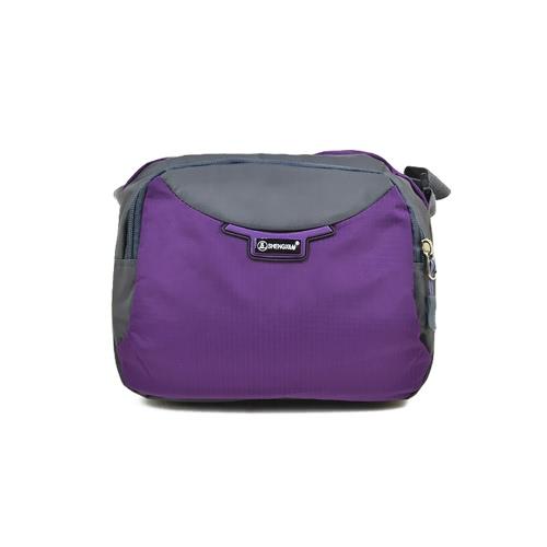 Las mujeres de nylon del bolso de Crossbody de la cremallera de la correa ajustable bolsillos del bolso de hombro del bolso del recorrido al aire libre ocasional