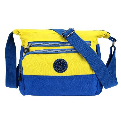 Na świeżym powietrzu przypadkowy damski kieszonkowy kolorowy kieszonka wielokolorowa torebka z nylonu Crossbody