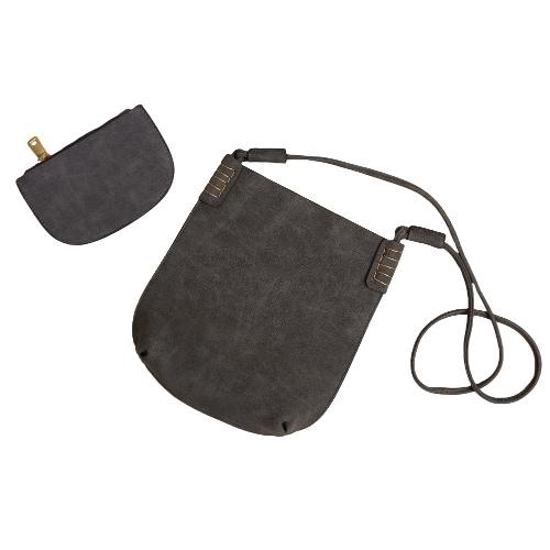 Новый женщин пу Crossbody мешок ресниц пакет случайные Винтаж двухсекционный Messenger сумки на плечо