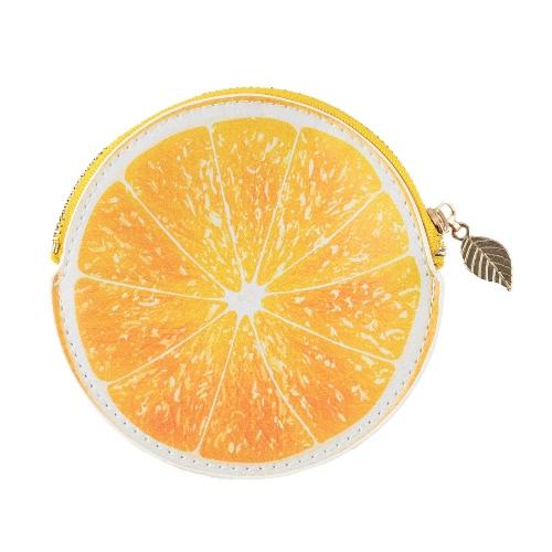 Manera de las mujeres Monedero Naranja impresión del modelo de la PU del cuero del color del caramelo Monedero anaranjado / amarillo / verde