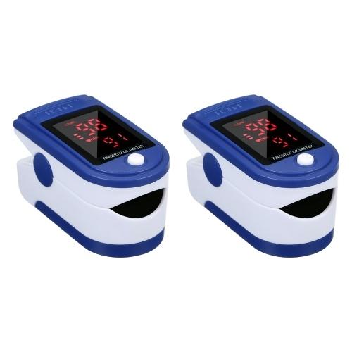 2PCS Fingerspitzenclip Pulsoximeter L-ED-Display Mini-SpO2-Monitor Sauerstoffsättigungsmonitor Pulsfrequenzmessung Mini Tragbar für den täglichen Gebrauch Gesunde Pflege