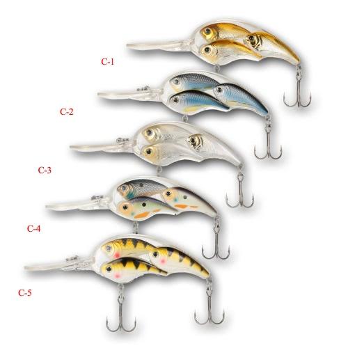 5pcs / lot группа приманки рыбы плавающей SwimBait жесткий пластиковый 3d рыбный глаз Crankbait