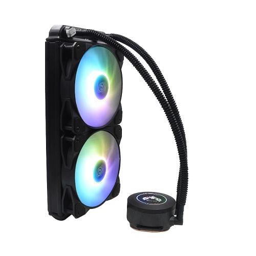 240 RGB AIO CPU Liquid Cooler PWM Fan Copper Pump Head Dense Aluminium Fins RGB Pump Head Hydraulic Bearing Multi-Platforms