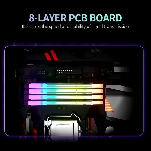 ASint DDR4 16GB 3600MHz RGB Desktop Memory Low Power Consumption Fast Heat Dissipation Support Intel XMP 2.0 Overclocking