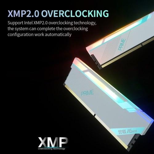 ASint DDR4 8GB 3200MHz RGB Desktop Memory Low Power Consumption Fast Heat Dissipation Support Intel XMP 2.0 Overclocking