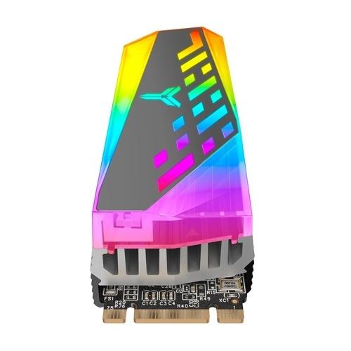 JONSBO M.2-4 RGB SSD Radiator SSD Aluminium Heatsink with Silicone Thermal Pad for M.2 2280 Single/Dual Sided SSD ARGB Syncing Light