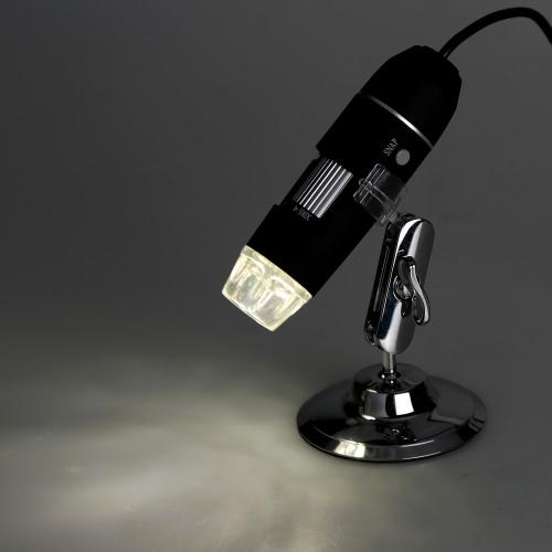 50 X ~ 500 X 8LED USB Microscópio Digital 2.0 câmera de lupa do endoscópio com Driver preto portátil