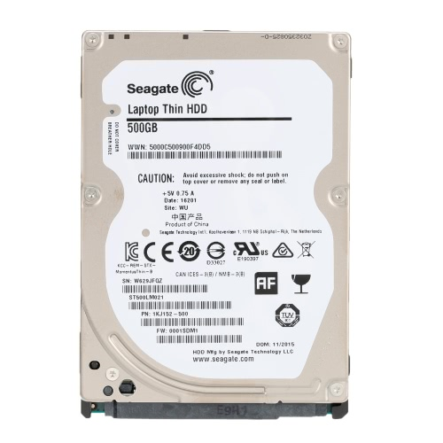 Seagate 500G Laptop HDD Internal Notebook Hard Disk Drive 7mm 7200RPM SATA 6Gb/s 32MB Cache 2.5-inch ST500LM021