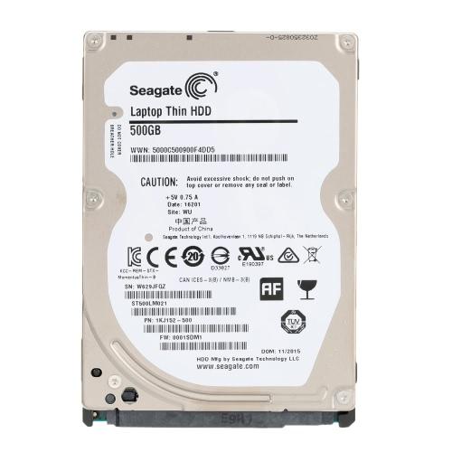 Dysk twardy firmy Seagate 500G wewnętrzny dysk twardy 7 mm 7200RPM SATA 6 GB / s 32 MB pamięci podręcznej 2,5-calowy ST500LM021