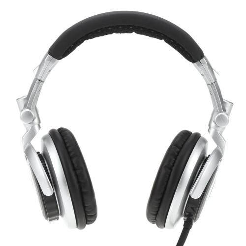 SENICC ST-80 Profesjonalny monitor muzyki stereo HiFi Słuchawki douszne Bass Over-3.5mm ucho słuchawki przewodowe DJ Style z obrotowym słuchawce