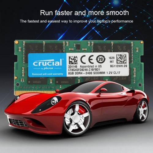 Crucial 4GB Einzel DDR4 2133MT / s PC4-17000 CL15 1.2V SODIMM 260-Pin-Speicher für Laptop Notebook CT4G4SFS8213